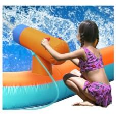 Saltea gonflabila cu piscina si tun cu apa