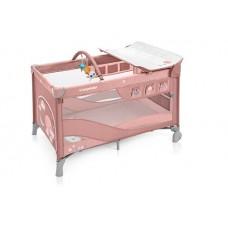 Baby Design Dream 08 Pink 2019 - Patut Pliabil cu 2 nivele