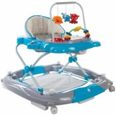Premergator Sun Baby Pisicuta 011 cu functie de balansoar - Blue Grey
