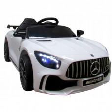 Masinuta electrica cu telecomanda Mercedes AMG GTR-S R-Sport - Alb