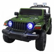 Masinuta electrica cu telecomanda cu baterii si functie de balansare Jeep X10 TS-159 R-Sport - Verde