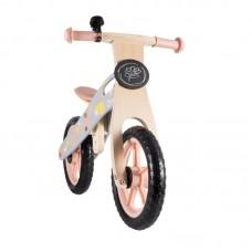 Lionelo Bicicleta din lemn fara pedale Casper Pink