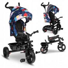 Lionelo - Tricicleta multifunctionala cu sezut reversibil, pliabila, Haari, Pliabila, Multicolor