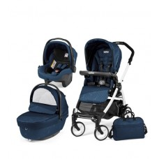 Carucior 3 in 1, Peg Perego, Book Plus 51 Black&White Sportivo Geo