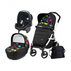 Carucior 3 in 1, Peg Perego, Book Plus 51 S, Black&White, Completo Elite