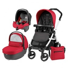 Carucior 3 in 1, Peg Perego, Book Plus 51 S, Black&White, Sportivo Bloom