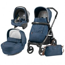Carucior 3 In 1, Peg Perego, Book Plus 51 S, Black, Completo Elite Urban Denim