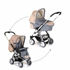 Set Carucior 2 in 1 i'Coo Pii Coco/ Cocoon Set Natural Rock