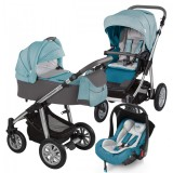 Baby Design Dotty 05 Turquoise 2017 - Carucior 3 in 1