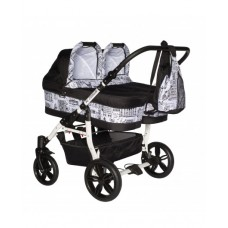 Carucior copii gemeni side by side 3 in 1, PJ STROLLER