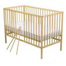 BabyNeeds - Patut din lemn Maks 120x60 cm, Natur