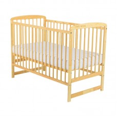 BabyNeeds - Patut din lemn Ola 120x60 cm, Natur
