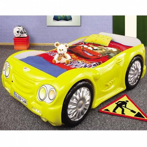 Pat masina Sleep Car Galben