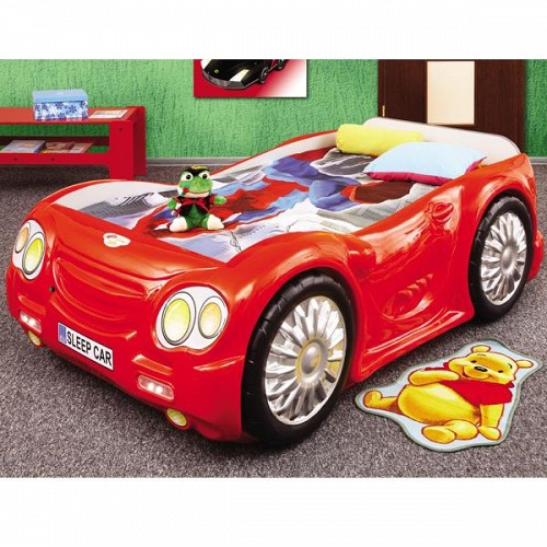 Pat masina Sleep Car Rosu