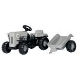 Tractor Copii Rolly Toys 014941 Little Grey Fergie Cu Remorca