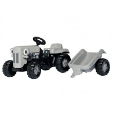 Tractor Copii Rolly Toys 014941 Little Grey Fergie Cu Remorca