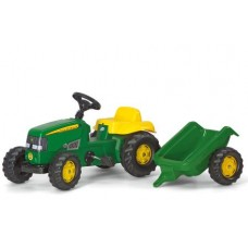 Tractor Cu Pedale Si Remorca Copii ROLLY TOYS 012190 Verde