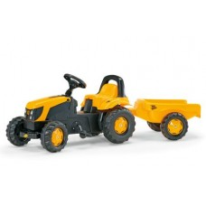 Tractor Cu Pedale Si Remorca Copii ROLLY TOYS 012619 Galben
