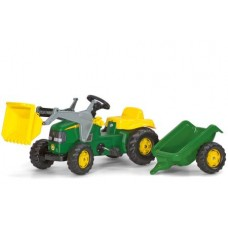 Tractor Cu Pedale Si Remorca Copii ROLLY TOYS 023110 Verde
